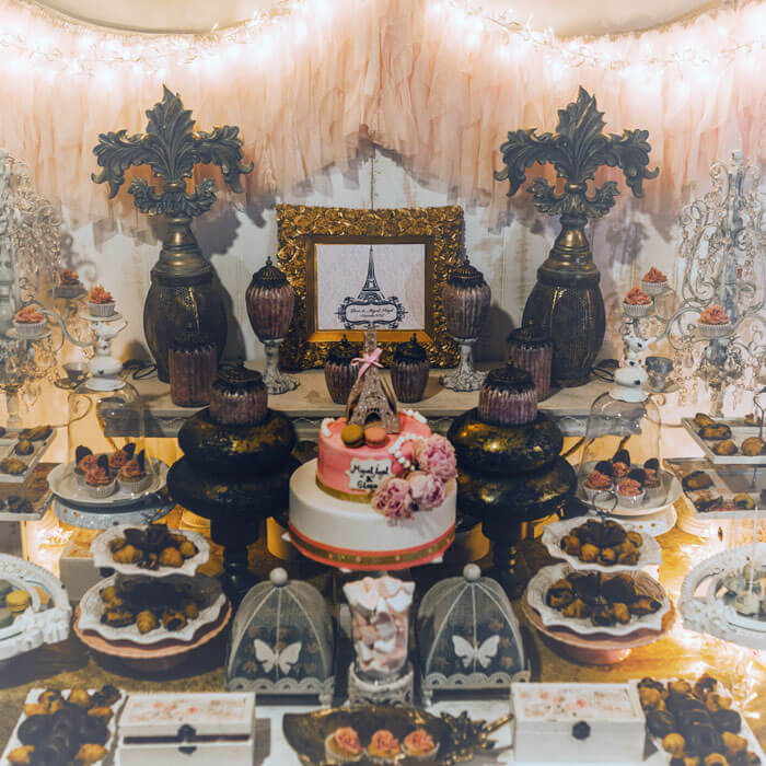 Tarta y dulces nupciales
